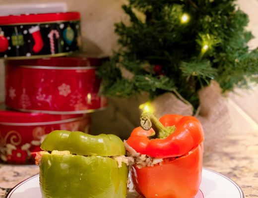 Red and Green Stuffed Peppers